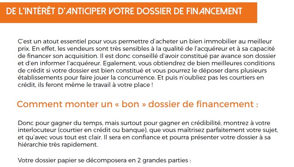 Check-liste dossier